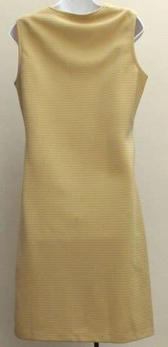 Vintage 1960s ladies dress size 12 UNUSED crimped polyester Caprice SHOP SOILED